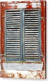 Weather-beaten Window Acrylic Print by Gaspar Avila