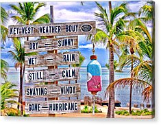 Weather Bouy Acrylic Print by Steve Cole