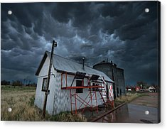 Weather In A Western Small Town Acrylic Print by Brian Gustafson