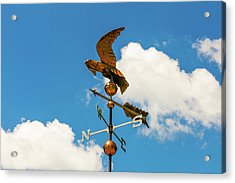 Acrylic Print featuring the photograph Weather Vane On Blue Sky by D K Wall