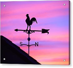 Acrylic Print featuring the digital art Weather Vane, Wendel's Cock by Jana Russon