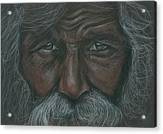 Weathered Aborigine Acrylic Print