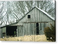 Weathered Barn In Winter Acrylic Print