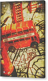 Weathered Bus Routes Acrylic Print