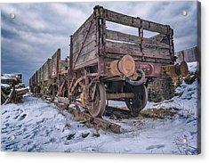 Weathered Coal Carts Acrylic Print