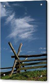 Weathered Fence Acrylic Print by Judi Quelland