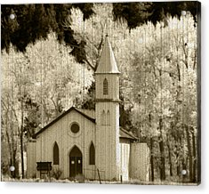 Weathered House Of Worship Acrylic Print