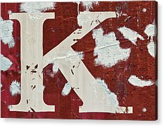 Weathered Letter K Acrylic Print