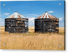 Weathered Old Bins Acrylic Print by Todd Klassy