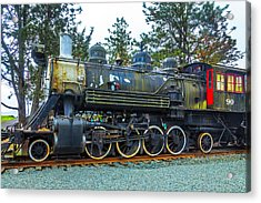 Weathered Old Train Acrylic Print by Garry Gay