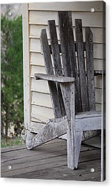 Acrylic Print featuring the photograph Weathered Porch Chair by Debbie Karnes