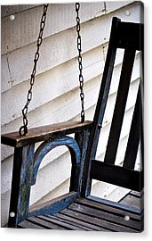 Weathered Porch Swing Acrylic Print