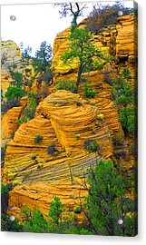 Weathered Rock Acrylic Print by Dennis Hammer
