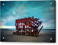 Weathered Rusting Shipwreck Acrylic Print by Garry Gay