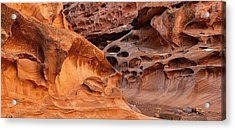 Weathered Sandstone Acrylic Print by Leland D Howard