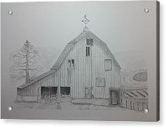 Weathered The Barn Acrylic Print by Daniel Kraus