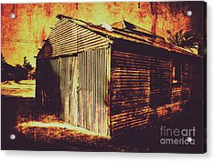 Weathered Vintage Rural Shed Acrylic Print