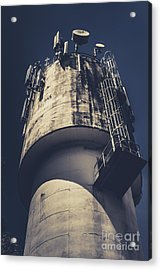Weathered Water Tower Acrylic Print by Jorgo Photography - Wall Art Gallery