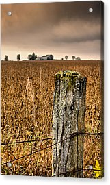 Weathered Wire..  Acrylic Print by Russell Styles