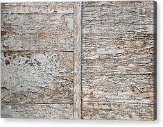 Weathered Wood Background Acrylic Print by Elena Elisseeva