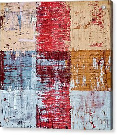 Weathered Wood Colorful Crossing 1 Of 3 Acrylic Print