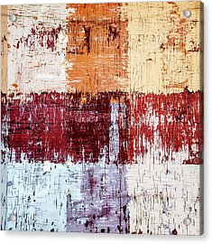 Weathered Wood Colorful Crossing 3 Of 3 Acrylic Print