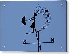 Weathergirl Acrylic Print