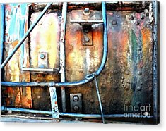 Acrylic Print featuring the photograph Weathering Steel - Rail Rust by Janine Riley