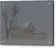 Weathering The Blizzard Acrylic Print
