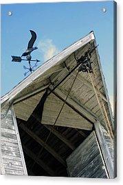 Weathervane Over The Hay Loft Acrylic Print by Laurie With