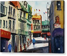 Waverly Place Acrylic Print by Tom Simmons