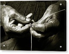 Acrylic Print featuring the photograph Weavers Hands by John Hix