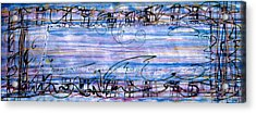 Weaving Evening Acrylic Print by Tom Hefko