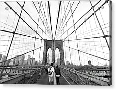 Web Of Love Acrylic Print by Andrew Serff