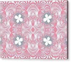 Web Of Threads 1 Acrylic Print by Ganesh Barad