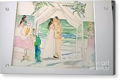 Wedding At Naples, Florida Acrylic Print by Jill Morris