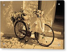 Acrylic Print featuring the photograph Wedding Bike by Frank Stallone