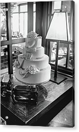 Wedding Cake Bw Series 0956 Acrylic Print