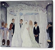 Acrylic Print featuring the painting Wedding Day by Aleezah Selinger