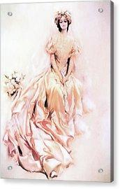 Wedding Day Romance Acrylic Print by Georgiana Romanovna
