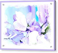 Wedding Flower Pedals Acrylic Print by Marsha Heiken
