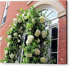 Wedding Flowers On Decatur House Acrylic Print by Cora Wandel