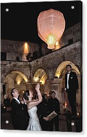 Wedding Globos Acrylic Print by David April
