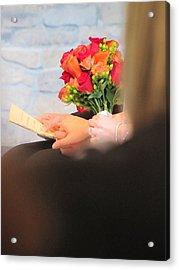 Wedding Hands Acrylic Print by Kelly Mezzapelle