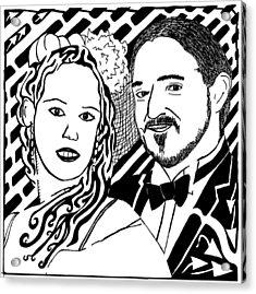 Wedding Maze Acrylic Print by Yonatan Frimer Maze Artist