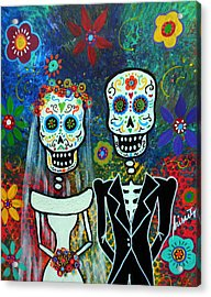 Wedding Muertos Acrylic Print by Pristine Cartera Turkus