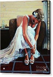 Wedding Acrylic Print by Paul Walsh