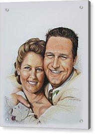 Wedding Portrait Jeremy N Katie Acrylic Print