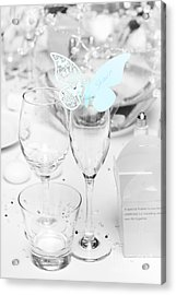 Wedding Table Decoration At Reception Acrylic Print