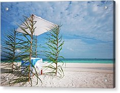 Acrylic Print featuring the photograph Wedding Tent On The Beach by Jenny Rainbow